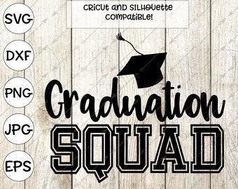 2018, graduation svg, graduation cap svg, college graduation svg, graduation shirt, college svg, graduation squad, cricut, silhouette