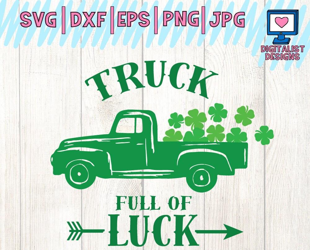 Truck Svg Clover Svg St Patrick S Day Svg Kids Svg Etsy