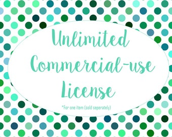 Unlimited Commercial Use - One Item in the Store - DigitalistDesigns - SVG Shop