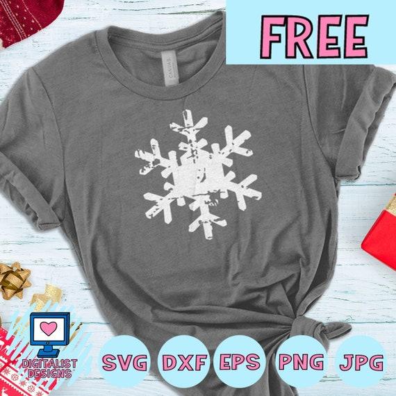 Free Svg File Free Snowflake Svg Snowflake Vector Etsy