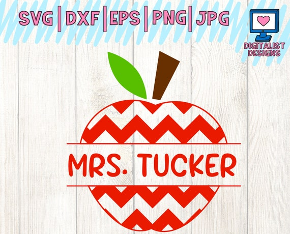 Teacher Svg Apple Svg Back To School Svg Svg Files Cricut Etsy
