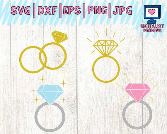 Wedding Svg Wedding Ring Svg Circle Monogram Frame Diamond Etsy