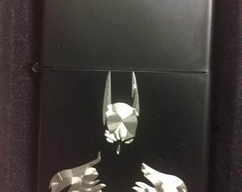 BATMAN LIGHTER matte black finish with Gift Box the dark knight