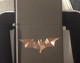 BATMAN LIGHTER black ice finish with Gift Box the dark knight