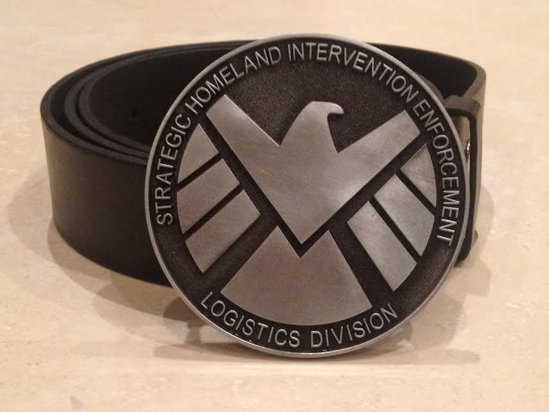 FREE Belt Marvel movie civil war avengers Captain America Shield logo BUCKLE