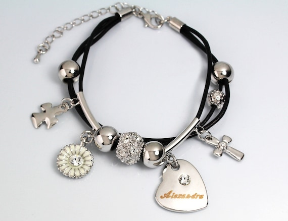 Bracelet With Name 18ct White Gold Plated ALEXANDRA Gifts For Her