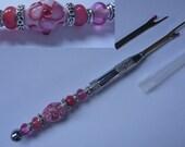 Custom Order Seam ripper, unpicker, lampwork glass beads, quilting, sewing tool