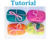 Tutorial Felted soap Instant Download PDF and Video, DIY gift making