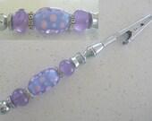 Bracelet Helper, Roach Clip, featuring Artisan lampwork Glass Beads.