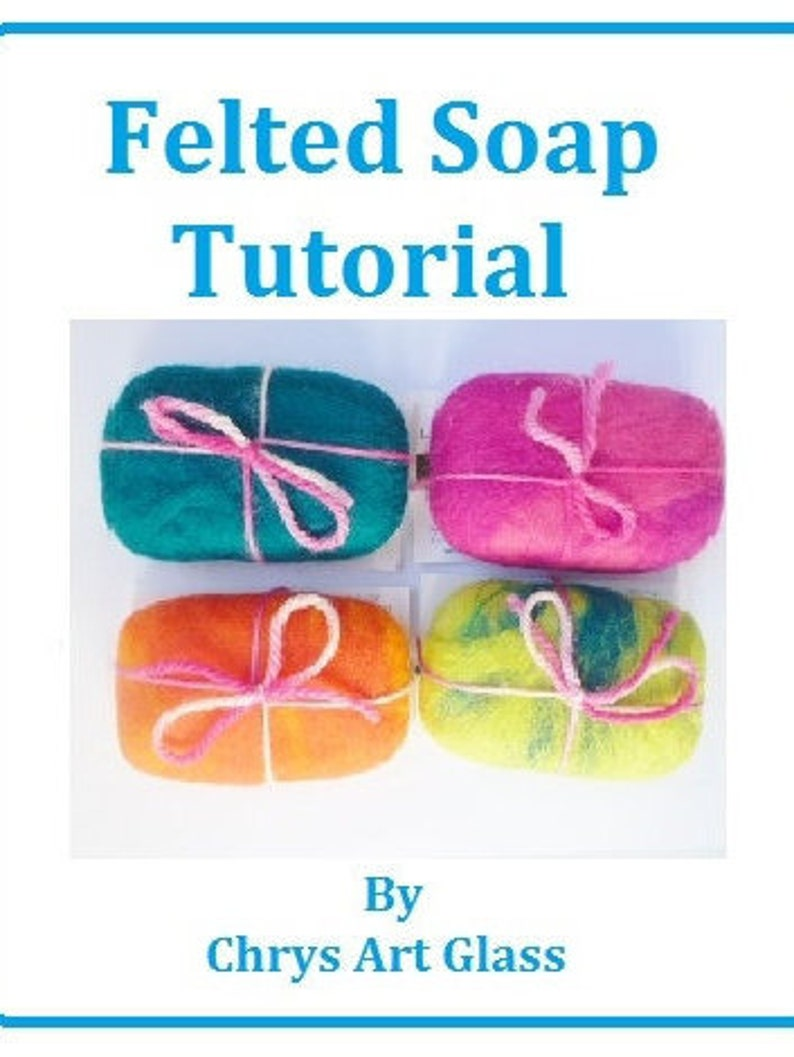 Tutorial Felted soap Instant Download PDF and Video DIY gift image 0