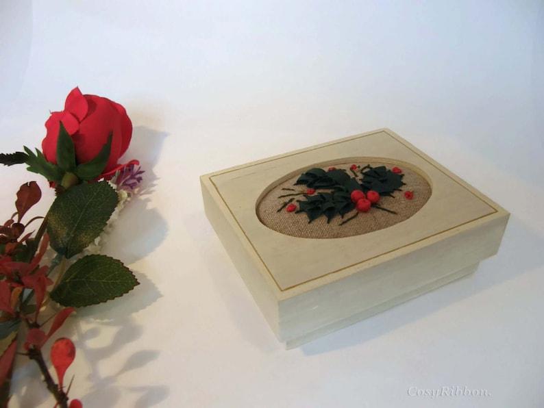 Christmas Box Christmas Decor-Holiday Decor Home Decor Handmade Decorative Box Gift Box-Christmas Decoration Christmas Gift jewelry box
