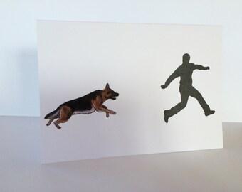 German Shepherd Police Dog Card