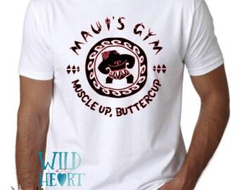 Muscle Up Buttercup Maui Shirt, Maui's Gym, Men's Disney Shirt, Maui Shirt, Moana, Men's Moana Shirt, Disney Park Shirt, Disney Trip, Maui