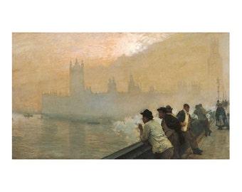 De Nittis - Westminster, London beautiful fine art print in choice of sizes