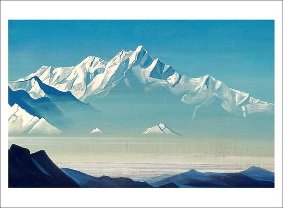 Roerich Gengis Khans Campaign mountain landscape fine art print various sizes