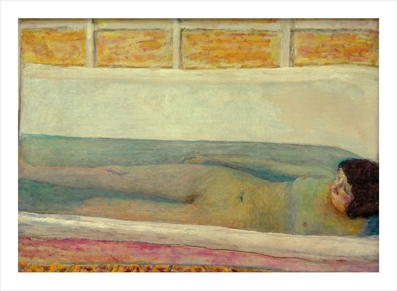 Bonnard The Bath bathroom fine art giclee print poster wall art various sizes