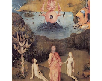 Bosch - The Creation of Eve beautiful fine art print in choice of sizes