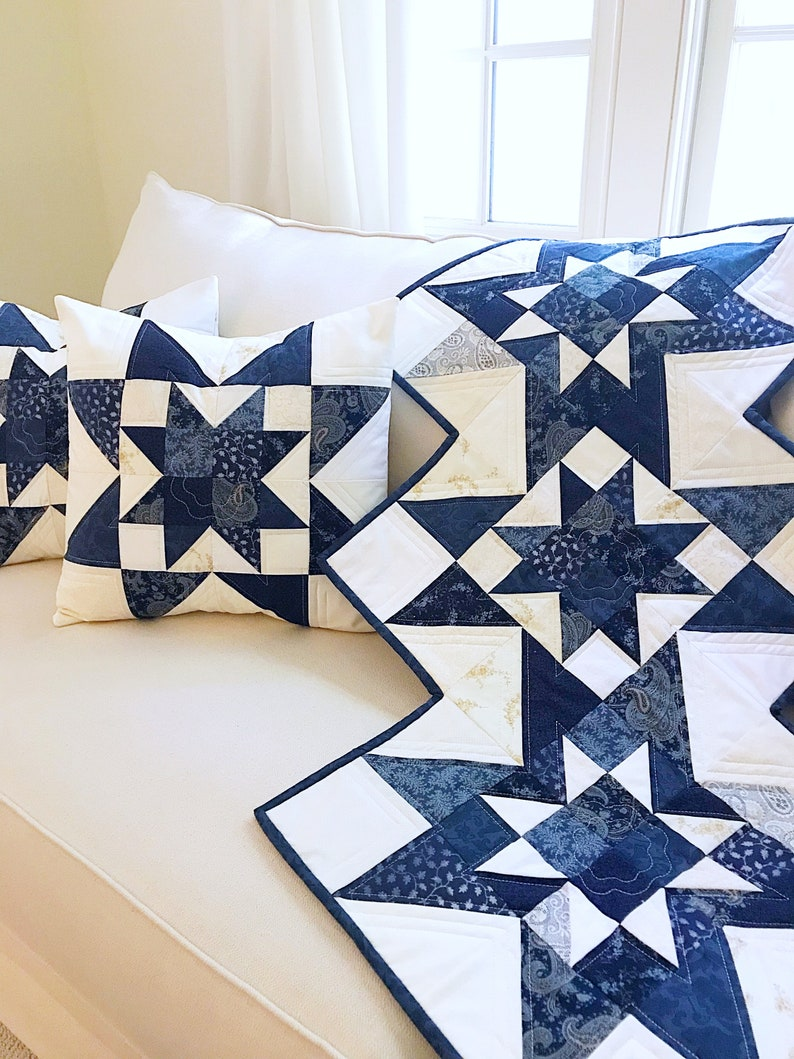 Free Christmas Quilt Patterns To Download.Star Quilt Patterns Pdf Fall Quilt Pattern Table Runner Pattern Christmas Quilt Pattern With Free Pillow Pattern Easy