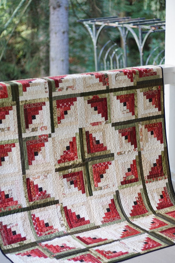 Christmas Quilt Patterns.Log Cabin Quilt Patterns Pdf Christmas Quilt Pattern Easy Quilt Patterns Beginner Quilt Pattern Watermelon Quilt