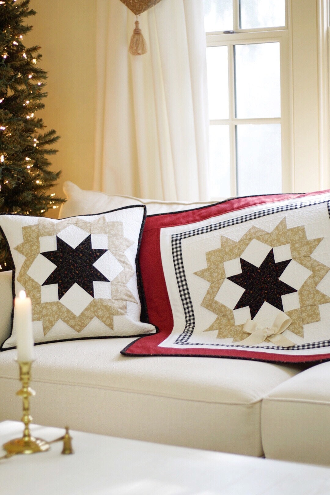 Christmas Quilt Patterns Pdf And Free Pillow Pattern Christmas Etsy