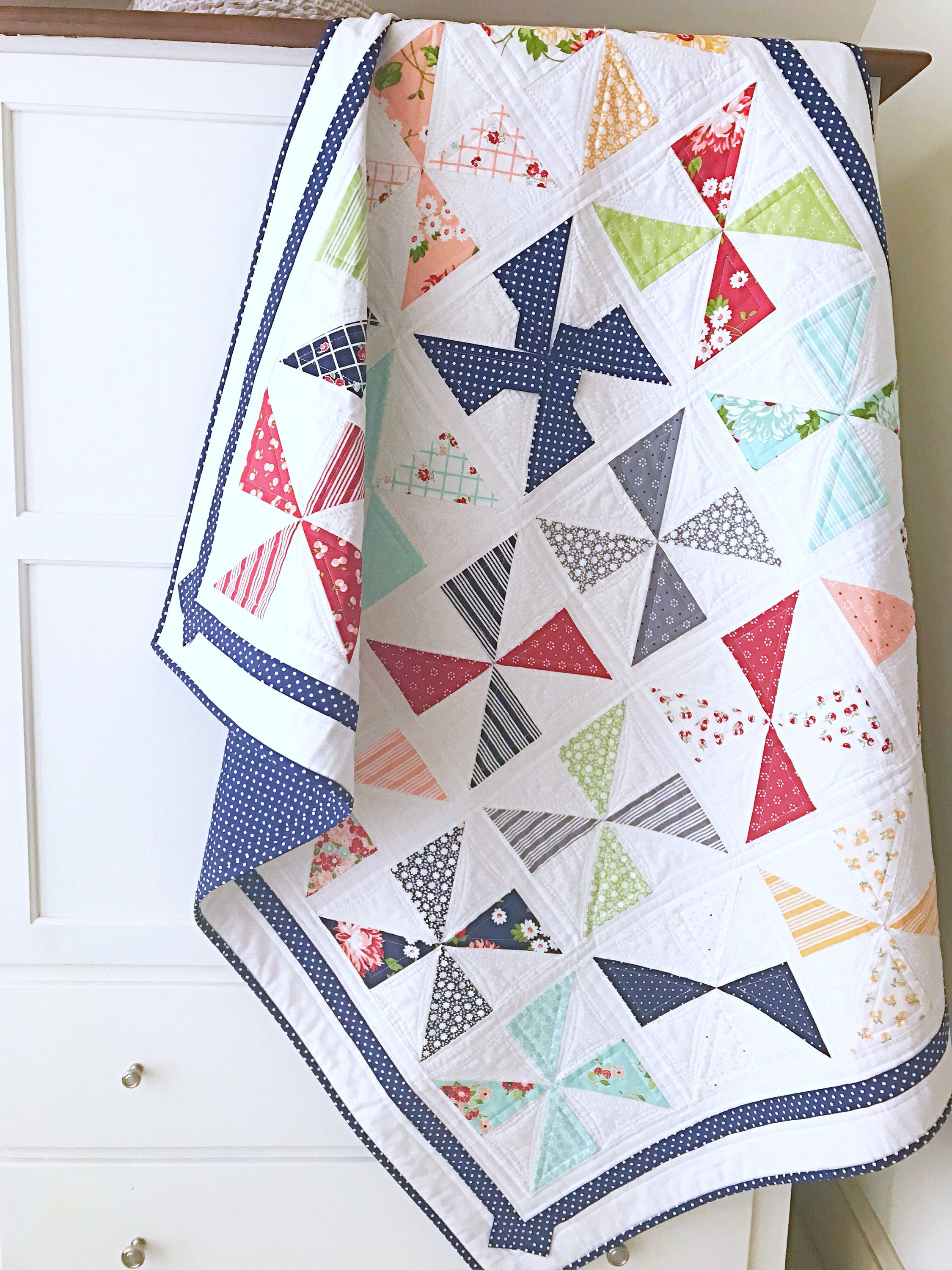 Baby Quilt Patterns.Easy Quilt Patterns Pdf Beginner Quilt Patterns Baby Quilt Pattern Pinwheel Quilt Pattern Christmas Quilt Pattern
