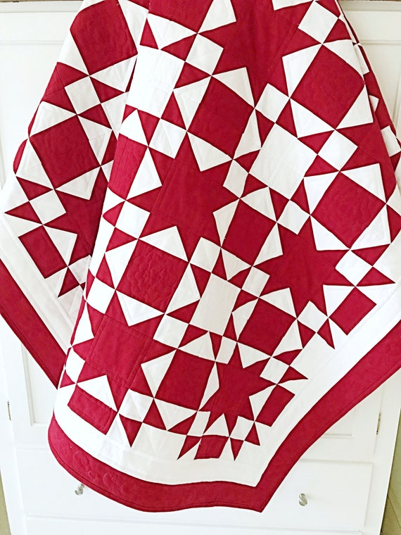 Christmas Quilt Patterns.Red And White Quilt Patterns Pdf Christmas Quilt Pattern Star Quilt Pattern Patriotic Quilt Patterns Amish Quilt
