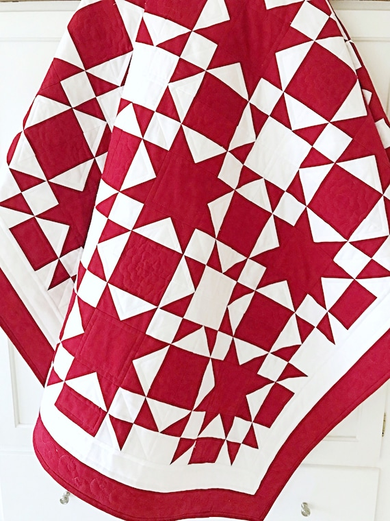 Red and White Quilt Patterns PDF Easy Quilt Patterns for   Etsy