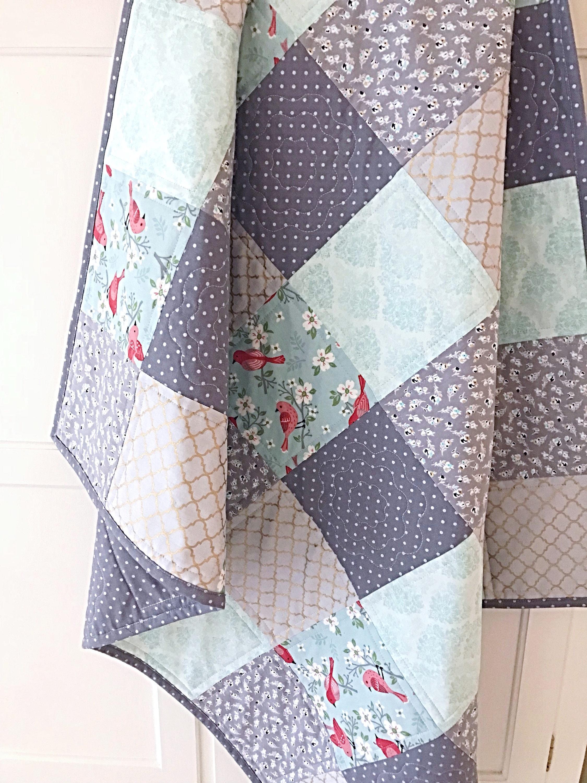 Baby Quilt Patterns Pdf 2 For 1 Beginner Quilt Pattern