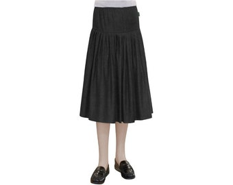 BabyO Girls Original Biz Style Long Ankle Length ITY Slinky Knit Skirt