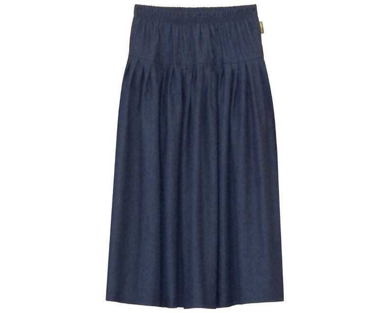 9a18763065 Girl's Original Modest BIZ Style Long Denim Skirt | Etsy