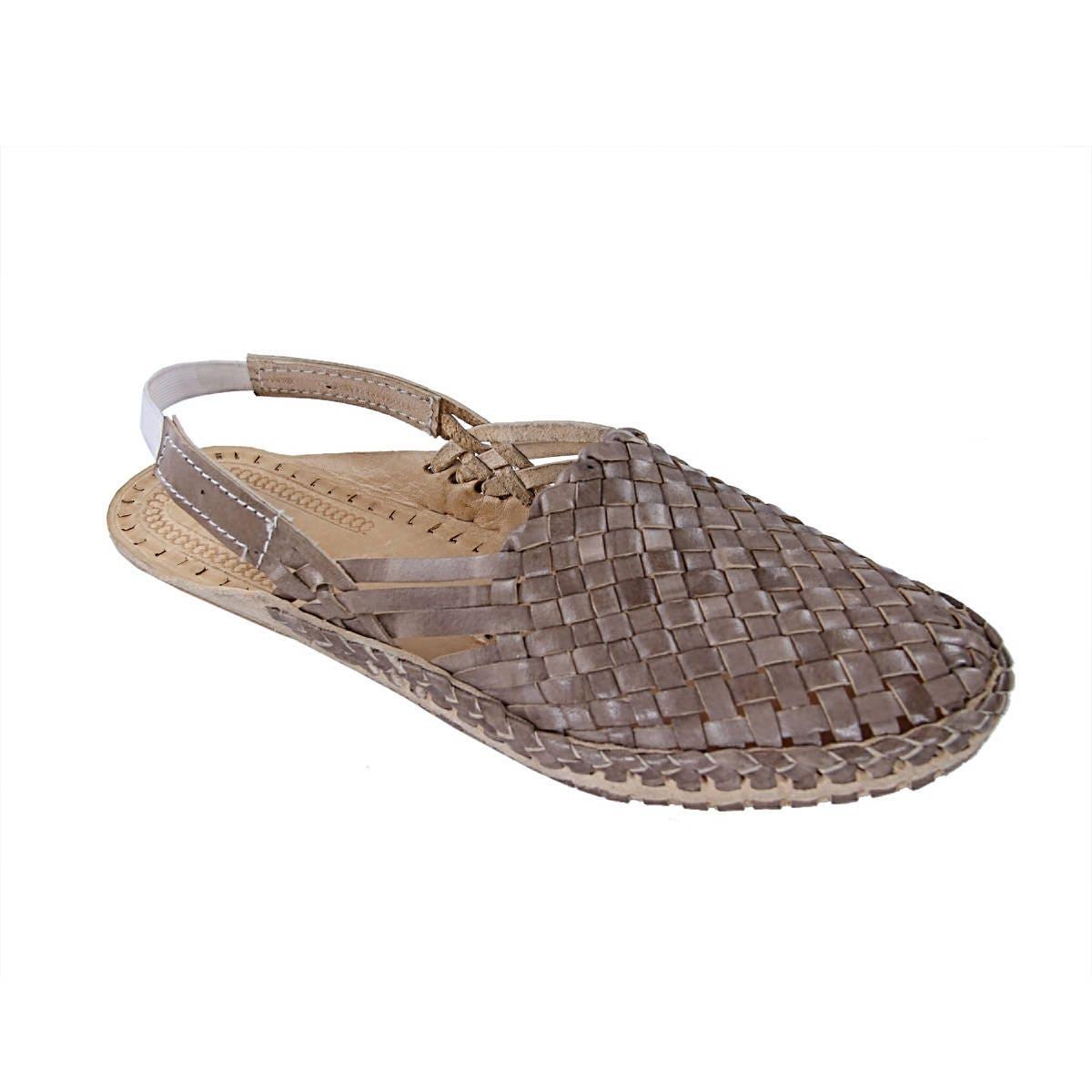 Overwhelming Light Brown Mat Design Back Shoe Strip Ladies Kolhapuri Half Shoe Back W-285 5ce912