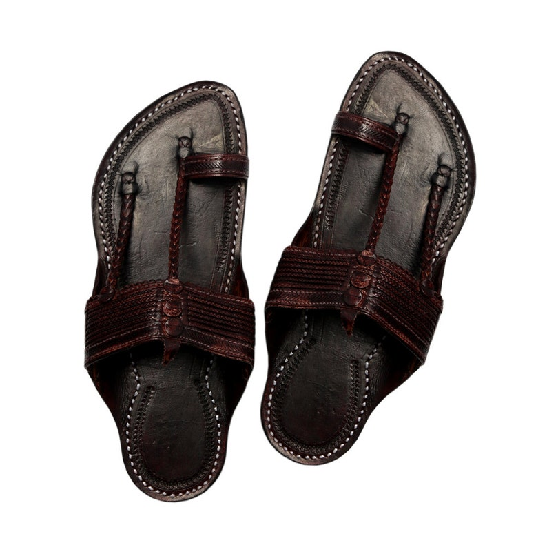 03c2891a4b70c Kapshi dark brown kolhapuri chappal for men