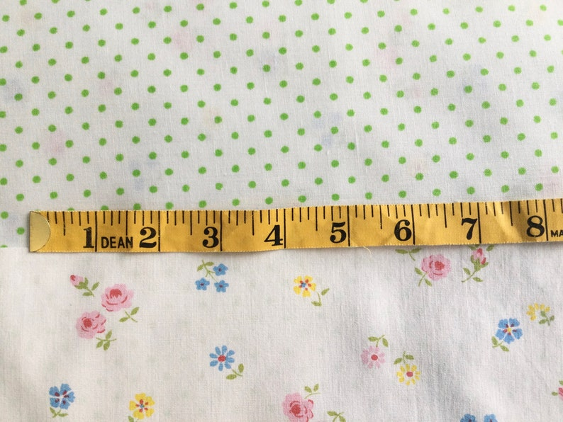 perfect for doll clothes pink Swiss dot Vintage Doll Fabric Scraps- tiny flowers seersucker small scale lightweight yellow bedding