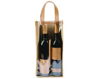 Cork Wine Bottle Carrier / Bottle Holder in Cork / FREE SHIPPING WORLDWIDE / Great Gift Idea