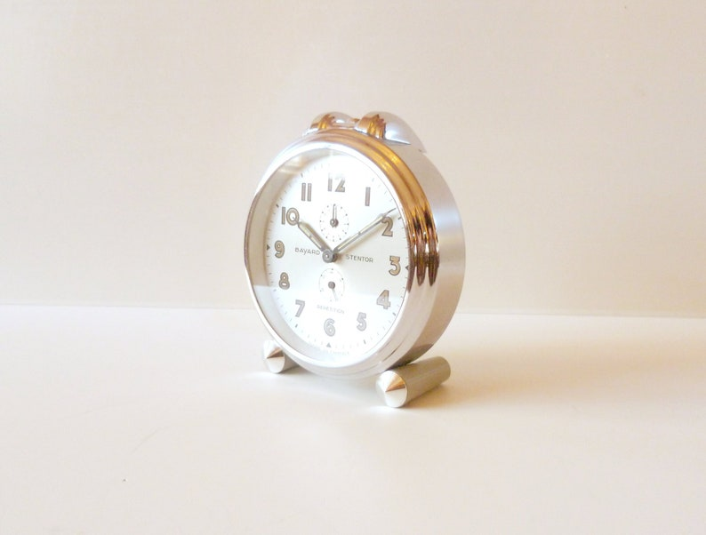 Fine Retro Alarm Clock Chrome Metal Home & Garden Alarm Clocks & Clock Radios