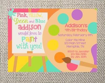 Custom Paint Invites Etsy