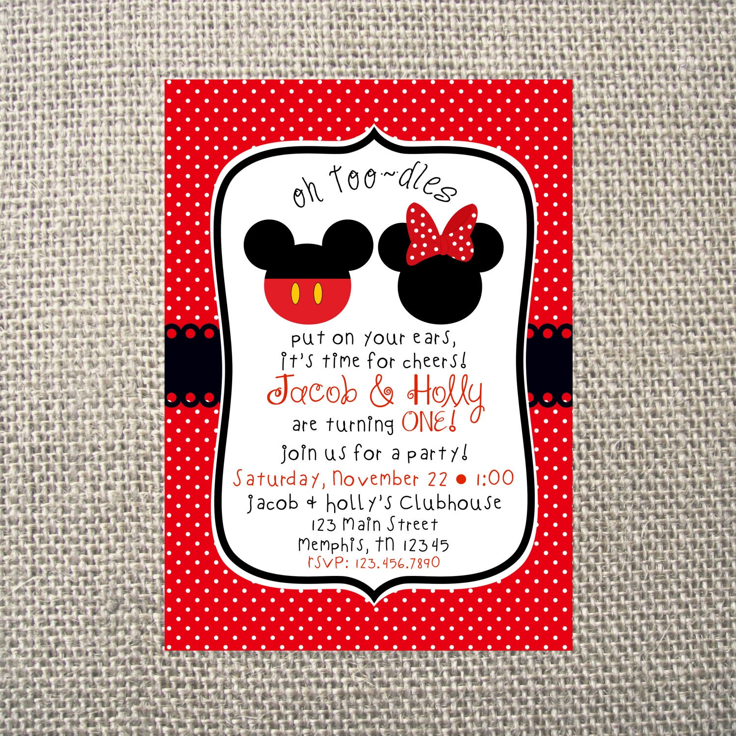 PRINTED or DIGITAL | Mickey Minnie Mouse Inspired | Birthday Party ...