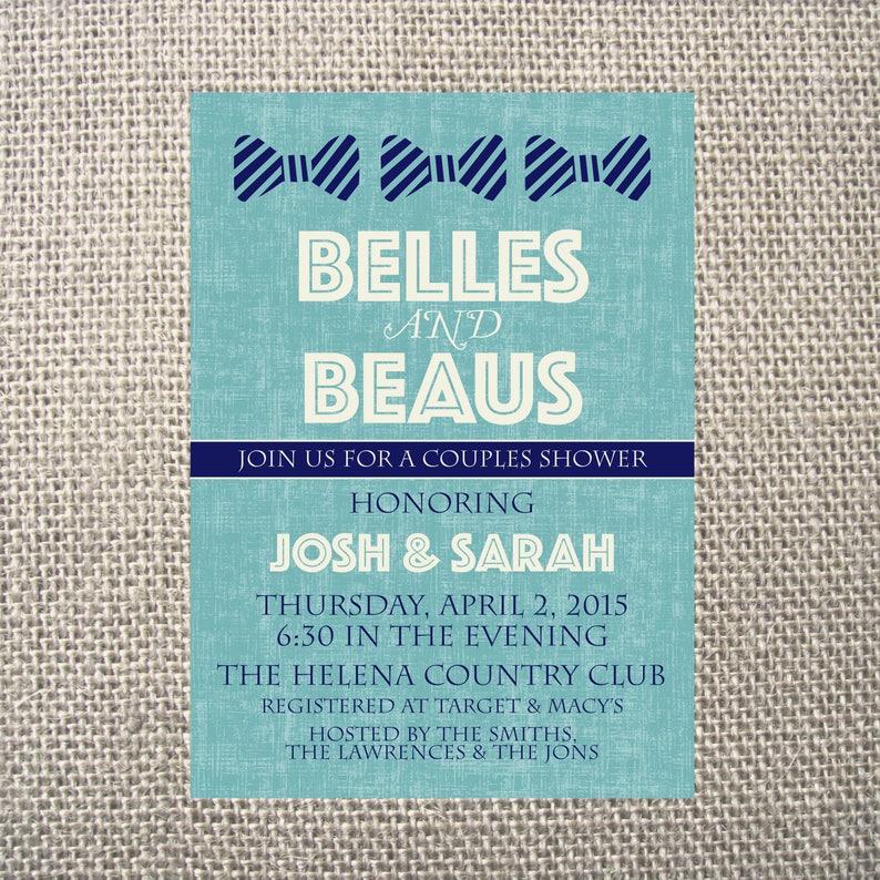 53d82177bf2cf PRINTED or DIGITAL Belles & Beaus Wedding Shower | Etsy