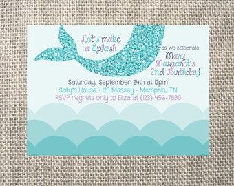 Turquoise invitation Etsy
