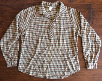Vintage Sears Soft Flannel Pullover Tunic