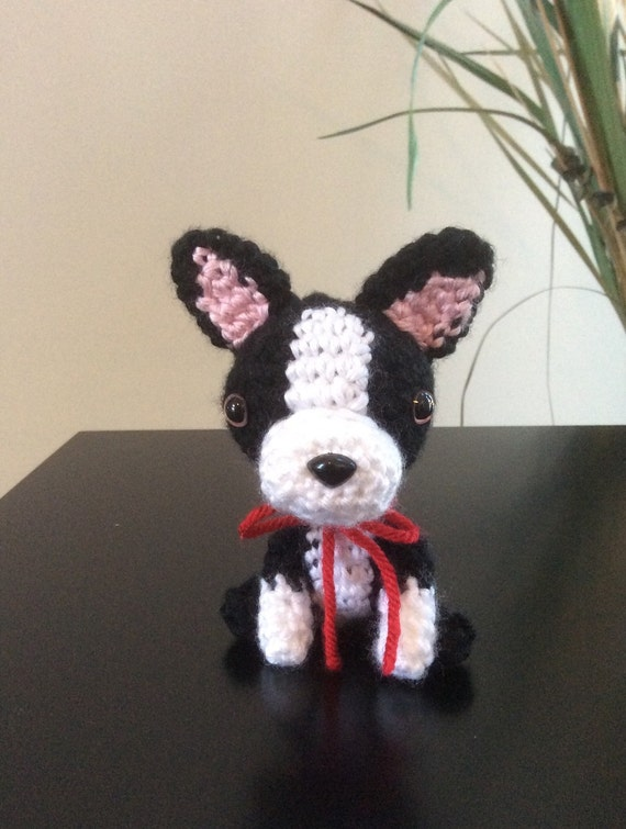 Boston Terrier Stuffed Animal Handmade Plush Dog Amigurumi Etsy