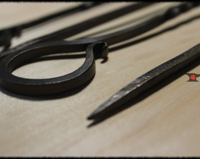 Set of 4 long BBQ skewers, 20-1/2 inches long, Blacksmith made, grill skewers, hand forged, Great for the grill or fire pit.