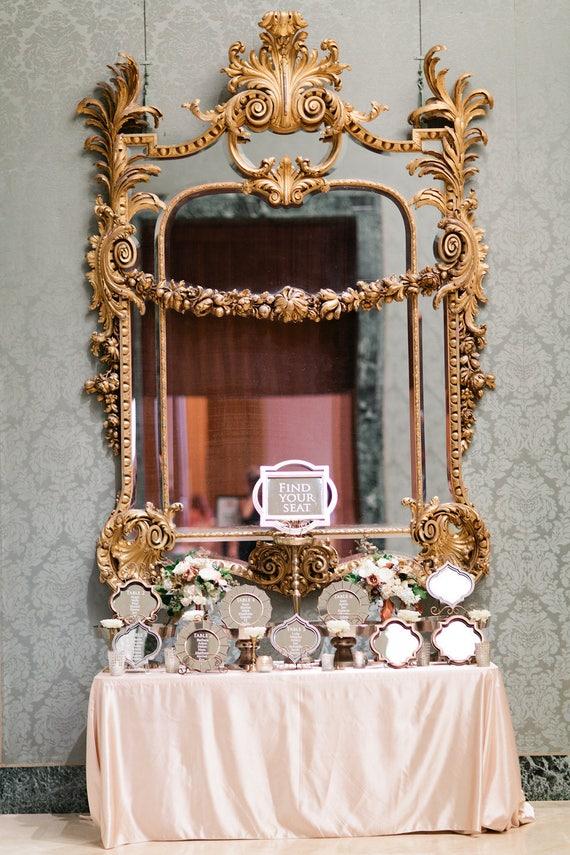 Hochzeit Tisch mit kleinen Spiegel/Glasrahmen | Etsy