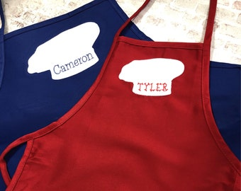 Childs Apron - Boys Personalized Apron - Personalized Boys Apron - Boys Embelished Apron