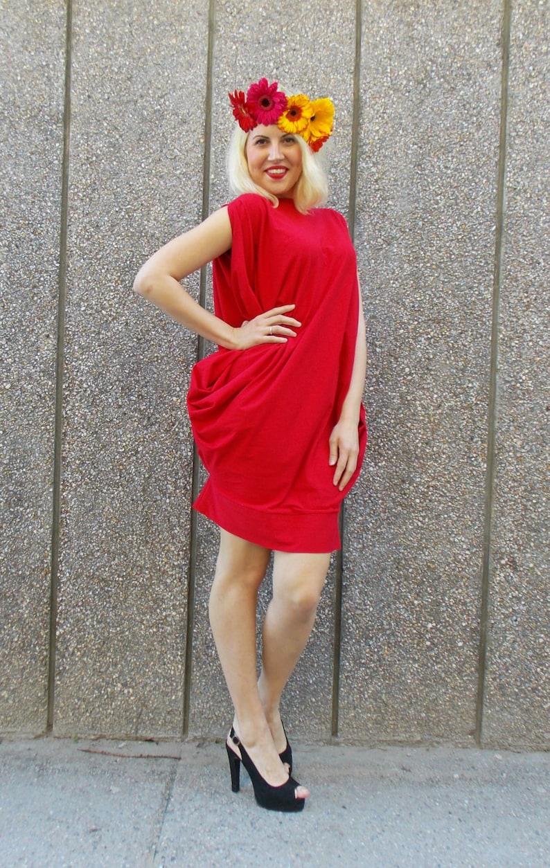 Loose Oversize Dress Trendy Plus Size Clothing Cotton Dress  Summer Dress TDK42 Bachelorette Party Dress Cocktail Dress Boho Bridal