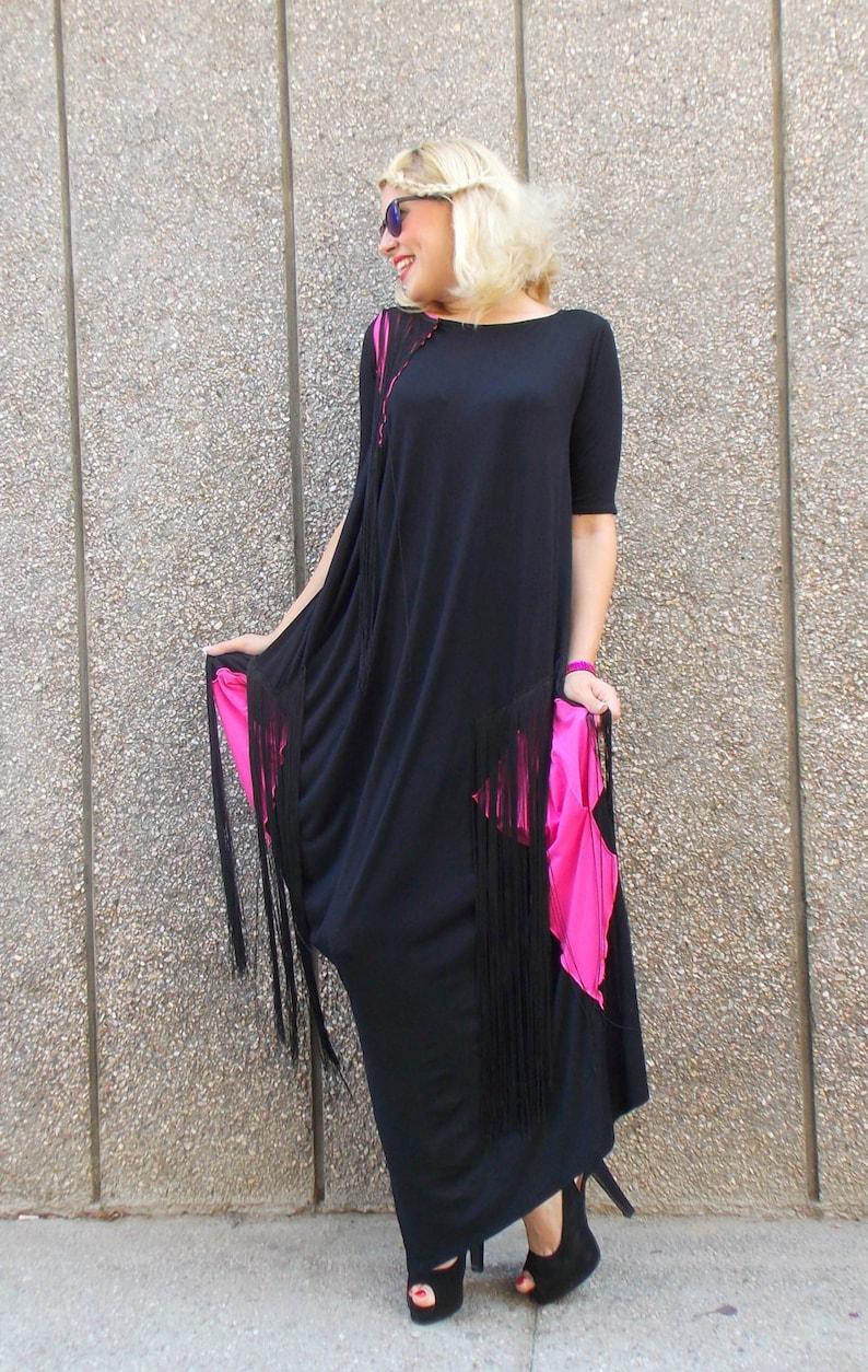 adbc14be8e3 Women Maxi Dress Plus Size Clothing Fringe Dress Long Kaftan