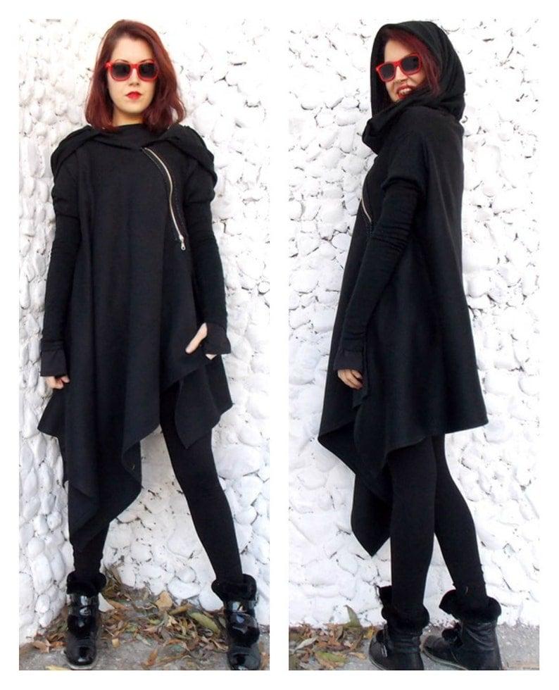 Coat for Women Loose Punk Jacket Steampunk Coat Tc03 Oversized image 0