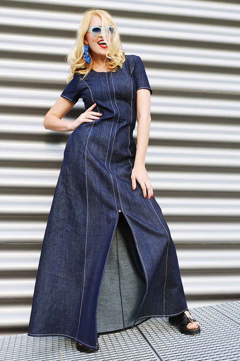 bbeb39de3a1 Denim Dress for Women Dress Jean Cotton Dress Denim Clothing