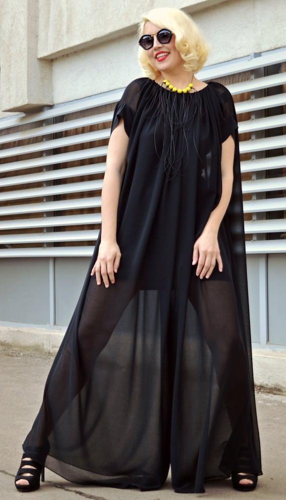 11077aec48c4a Extravagant Black Jumpsuit Loose Jumpsuit with Underneath