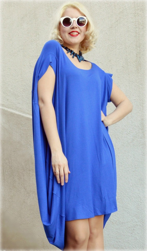 Royal Blue Maxi Dress Extravagant Loose Dress Royal Blue Etsy